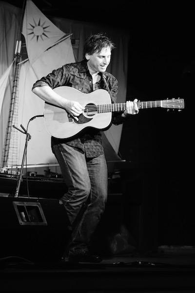 Joe Crookston Black White Hi Res Guitar Standing copy